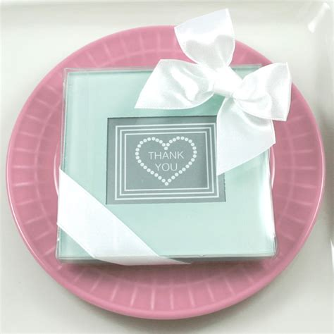 Wedding Favors Coasters by Classic Glass Photo Coaster Wedding Favors