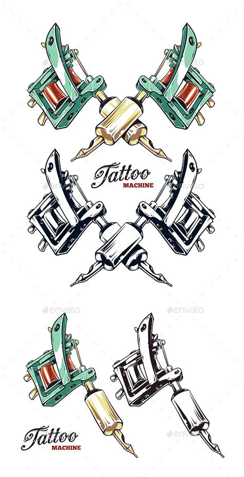 tattoo machine template tattoo machine by vecster graphicriver