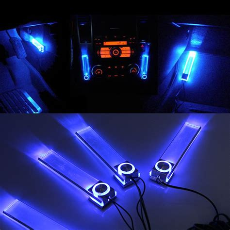 Interior Floor Lights Car 12v 4in1 car led interior floor atmosphere decorative