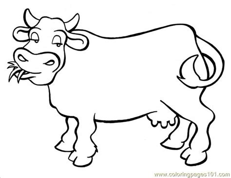 Coloring Pages Cow Big Animals Gt Cow Free Printable Cow Printable Coloring Pages