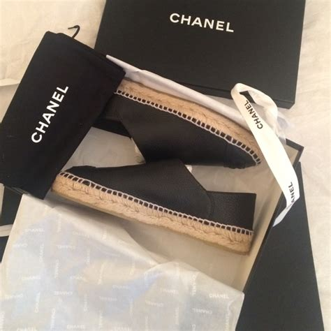 Brand New Chanel Espa Shoes 12 chanel shoes brand new chanel authentic leather espadrilles 39 from a s closet on poshmark