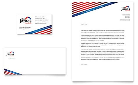 Government Public Safety Letterheads Templates Designs Political Contribution Envelopes Templates