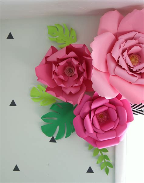 3d paper flowers template the craft patch paper flower window treatment
