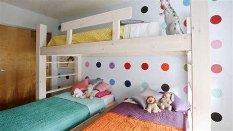 inspirasi desain kamar tidur  tiga anak rumah