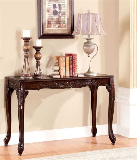 cherry sofa table cheshire cherry sofa table from furniture of america