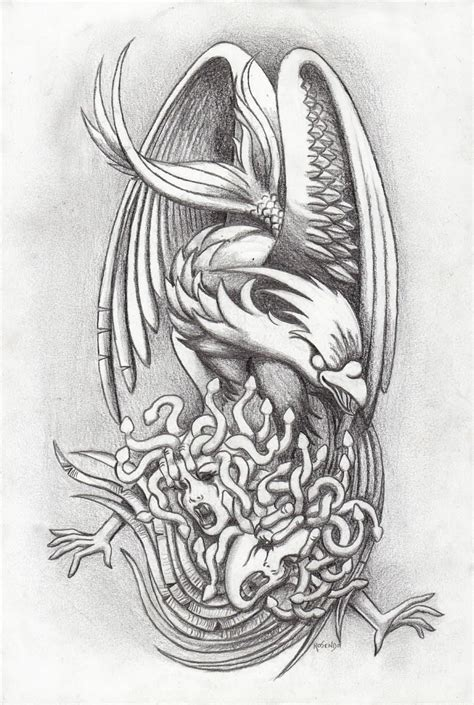 black and grey phoenix tattoo designs cool grey ink design