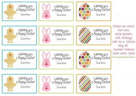 Printable Easter Labels | 8 best images of free printable easter name tag labels