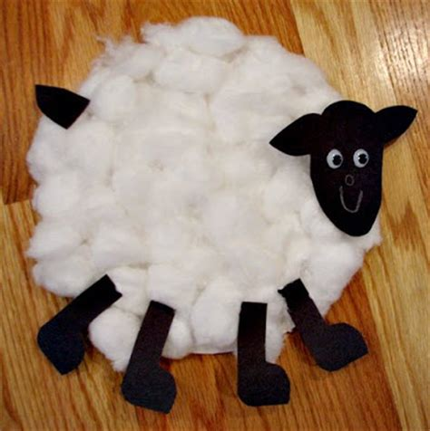 Paper Plate Sheep Craft - totally tots crafty corner cotton