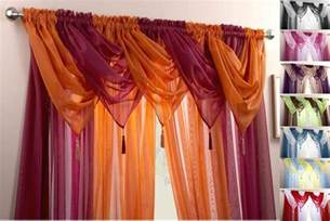 voile swag swags tassle decorative net curtain drapes