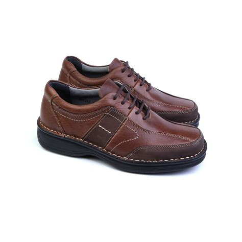 mens brown leather urethane sole sports fashion casual