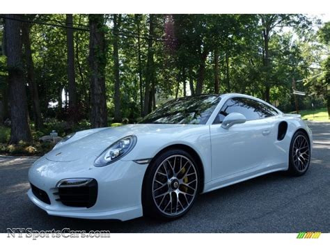 porsche metallic 2015 porsche 911 turbo s coupe in carrara white metallic