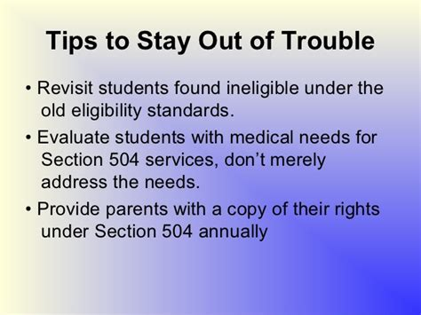 Section 504 Services by Section 504