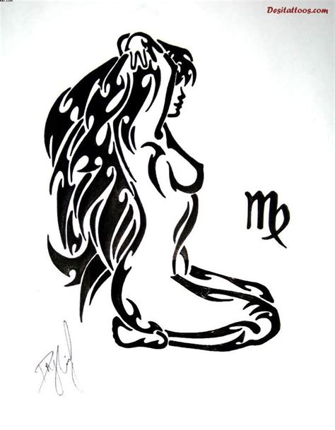 virgo tribal tattoo collection of 25 tribal virgo designs