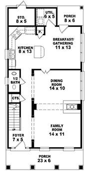 653584 2 story traditional plan perfect for a narrow