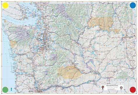 detailed road map of usa washington map detailed