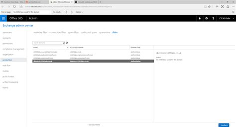 Office 365 Dkim Wave16 Office 365 Dkim No Dkim Saved For This