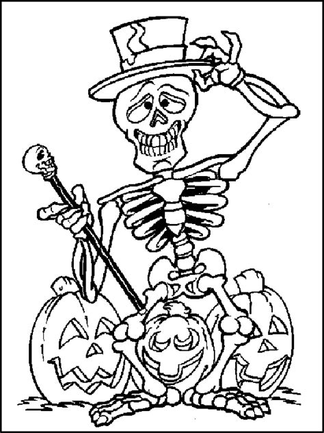happy spider coloring page skeleton coloring page