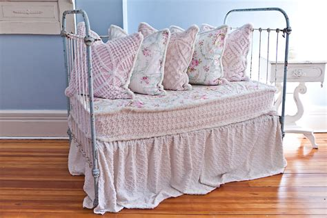 shabby chic daybed bedding custom order antique wrought iron crib settee daybed shabby