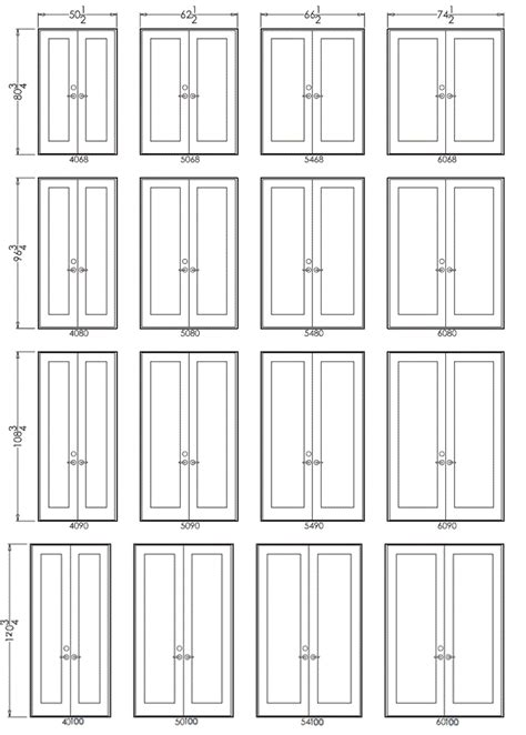 Door Sizes Swing Series 450 Doors Cgi Windows Cgi Windows