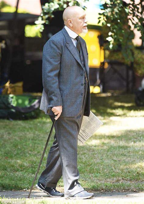 john malkovich hercule poirot john malkovich shoots scenes for new poirot series in