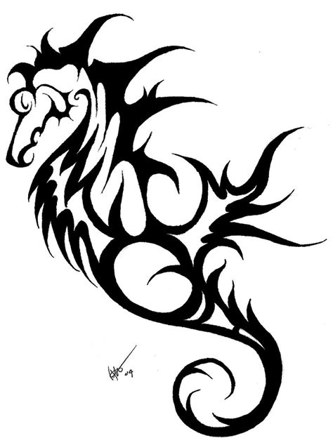 tribal seahorse tattoo seahorse images designs