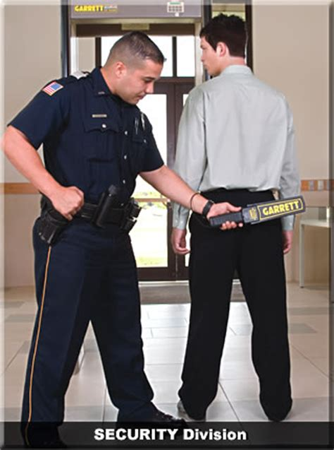 security guards to operate metal detectors pti