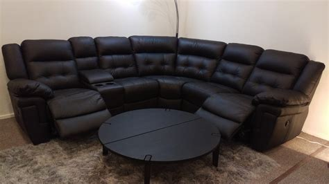 Corner Reclining Sofa La Z Boy Nashville Black Leather Power Reclining Corner Sofa Furnimax Brands Outlet
