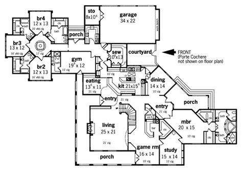 European Style House Plan 5 Beds 7 Baths 6000 Sq Ft Plan   european style house plan 5 beds 7 baths 6000 sq ft plan