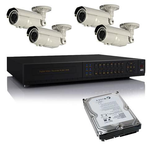 Harddisk Dvr kit dvr videosorveglianza h264 4 canali telecamere hd