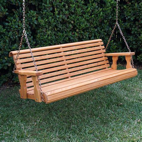 Porch Swing by Amish Heavy Duty 800 Lb Roll Back Treated Porch Swing Ebay