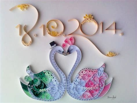quilling swan tutorial pin by ольга on quilling открытки 2 pinterest