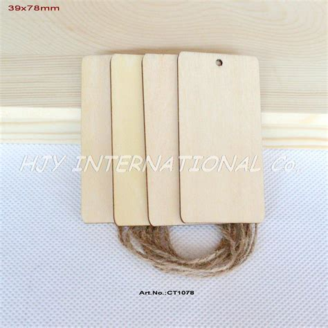 Wood For String - 60pcs lot 39mm x78mm unfinished wood tags