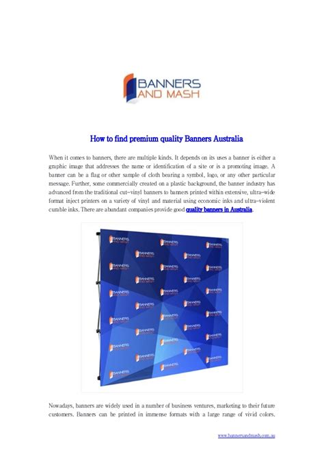 How To Find In Australia How To Find Premium Quality Banners Australia