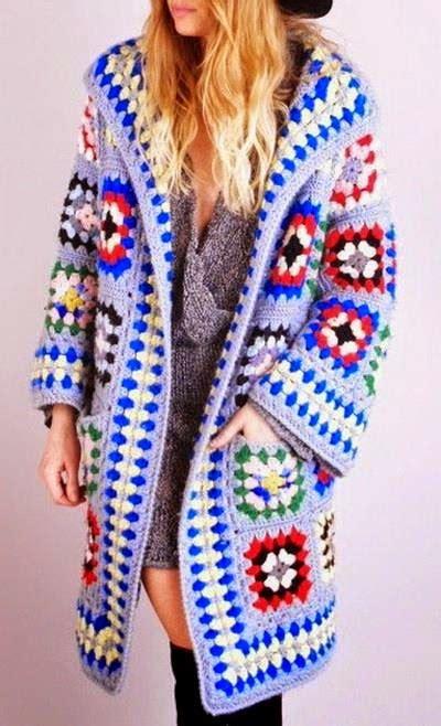 pattern coat pinterest crochet square granny cardigan jacket or coat easy
