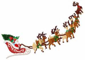 rudolph reindeer santa sleigh clipart