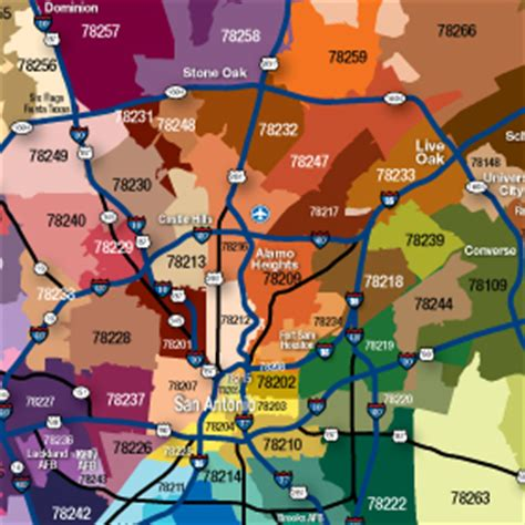 zip code map san antonio things to independence title