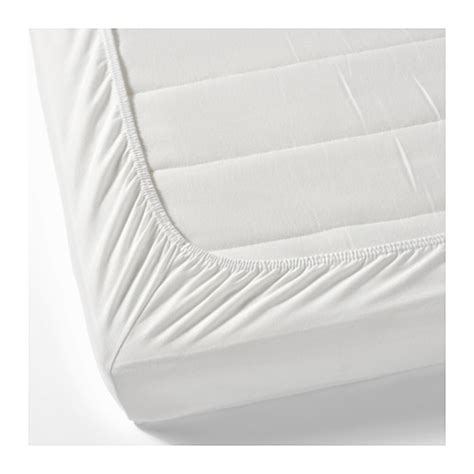 fitted bed sheet len fitted sheet white 70x160 cm ikea