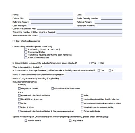 rental assistance form 12 download free documents in