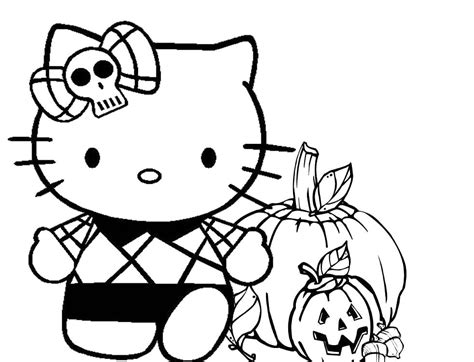 hello kitty halloween coloring pages hello kitty happy