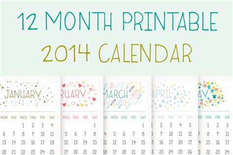 12 month calendar 2014 printable search results