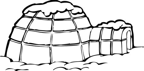 igloo coloring page free igloo clip art black and white clipart panda free