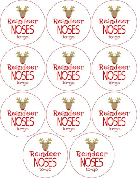 printable reindeer labels from rookie to rock star thoughtful thursday reindeer
