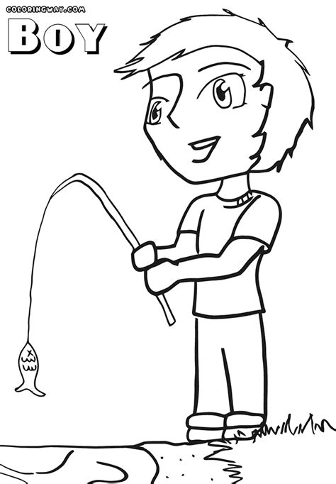 coloring page of fishing pole fishing rod coloring pages