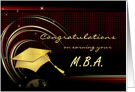 Mba Graduation Announcements Cards by Master Of Business Admin Congratulations On Graduation