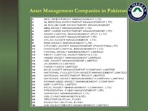 Mba In Construction Management In Pakistan by Mutal Funds Market In Pakistan