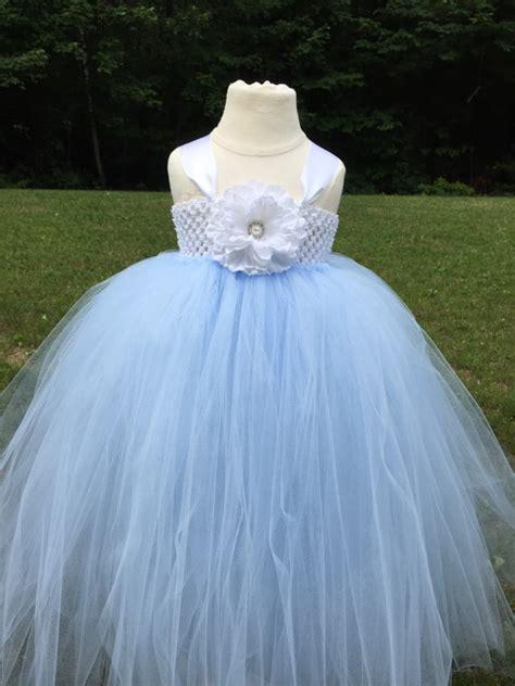 Dress Tutu Blue White white and light blue tulle dress light blue tulle