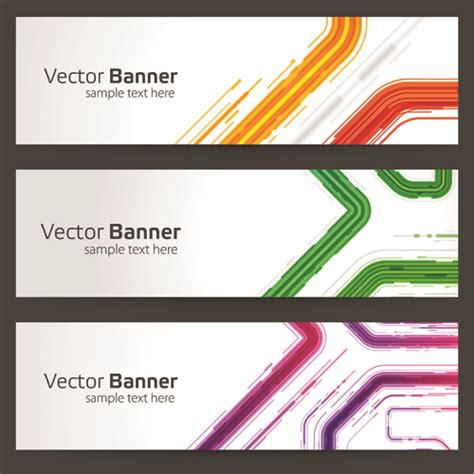 website header design download creative website headers banner vector set 02 vector