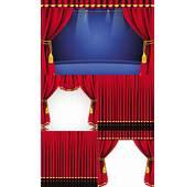 舞台红色幕帘 素材中国sccnncom