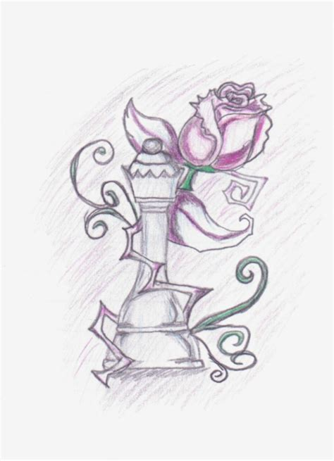 king and queen chess pieces drawings images