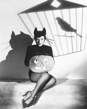 """halloween glamour""  old hollywood promoting starlets via"